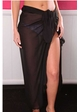 Ankle Length Sheer Chiffon Sarong Wrap inset 3