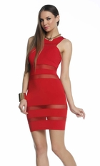 Ashtyn Dress with Mesh Insets