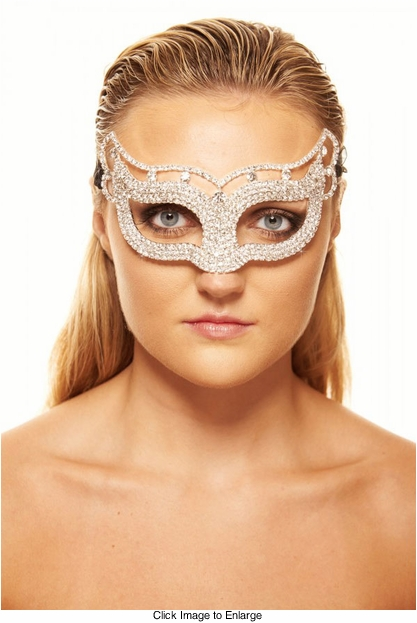 Astral Masquerade Mask with Crystals