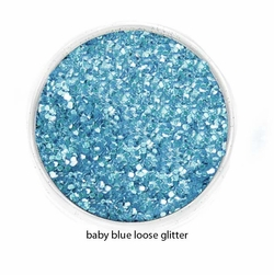 Baby Blue Color of Luxe Glitter Powder for Eyeliner and Eye Makeup