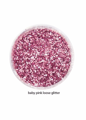 Baby Pink Color of Luxe Glitter Powder for Eyeliner and Eye Makeup