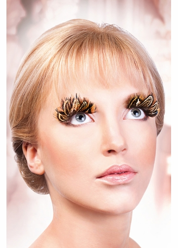 Beige and Brown Feather Lashes