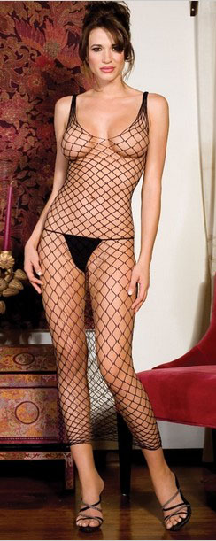 Big Diamond Fishnet Gown