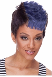 Black and Blue Short Punky Wig for $19.99