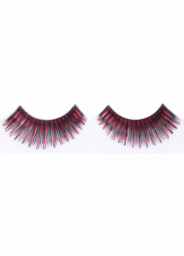 Black and Red Metallic Fake Lashes