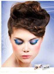 Black and Turquoise Blue Metallic Lurex Lashes for $7.00