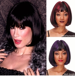 Black Bob Wig with Bangs Cindy