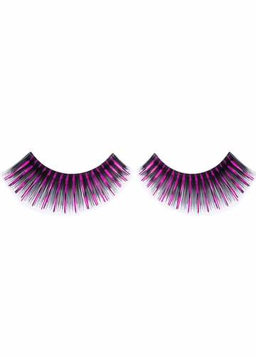 Black Fake Eyelashes with Pink Metallic