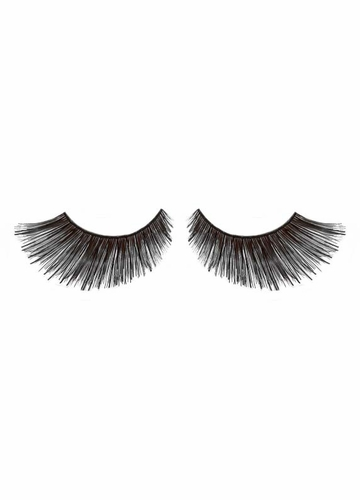 Black Feathered Wet Look False Lashes