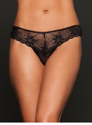 Black Lace Cheeky Thong back Panty