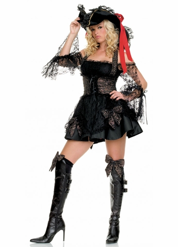 Black Lace Pirate Costumes