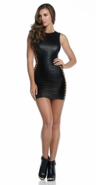 Alexx Black Mini Dress with Strappy Sides