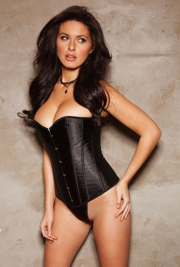 Black Satin Sweetheart Corset