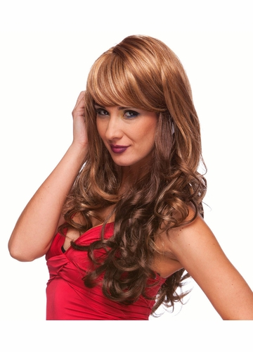 Blended Curly Wig with Side Swept Bangs
