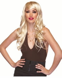 Blonde Long Curly Wig Burlesque