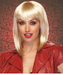 Blonde Tapered Bob Wig Doll