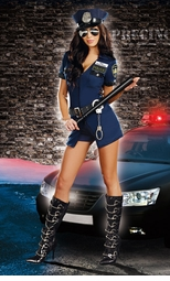 Blue Babe Police Costume