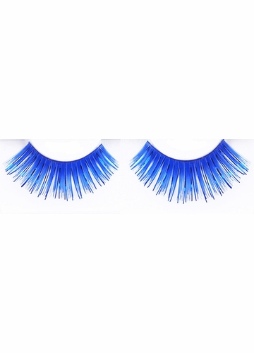 Blue and Green False Lashes with Metallic