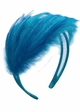 Blue Feather Fascinator Headband inset 1