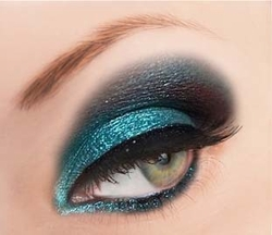 Blue Glitter Powder for Eyeliner and Eye Makeup