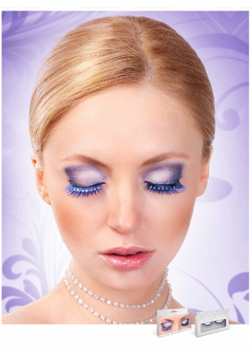 Blue Lashes with Crystal Eyeliner
