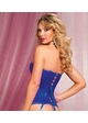 Blue Satin Corset with Zipper Front inset 1