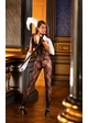 Bow Lace Bodystocking with Ruffle Trim inset 1
