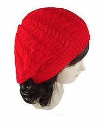 Braid Knit Beret Hat