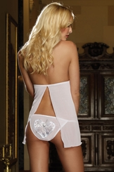 Bridal Lace Babydoll and Heart Panty