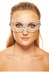 Brilliant Laser Cut Masquerade Mask with Crystals