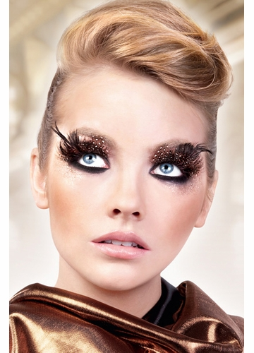 Brown and Black Feather Lashes