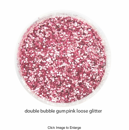 Bubble Gum Pink Color of Luxe Glitter Powder for Eyeliner / Eye Makeup