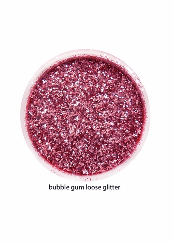 Bubblegum Pink Color of Luxe Glitter Powder for Eyeliner / Eye Makeup