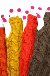 Cable Knit Arm Warmer Gloves