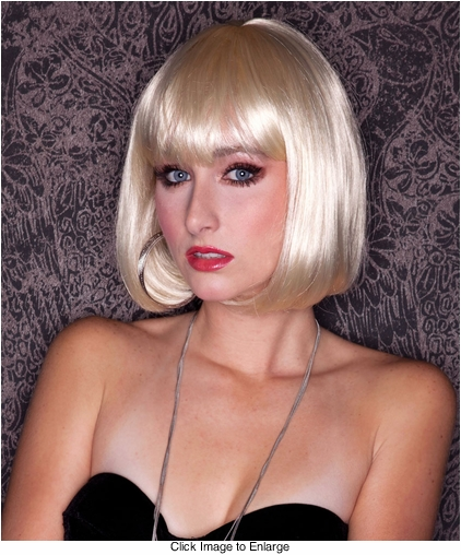 California Blonde Bob Wig with Bangs Cindy