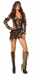 Camouflage Combat Army Babe Costume
