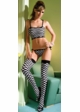 Checkered Thigh High Stockings inset 1