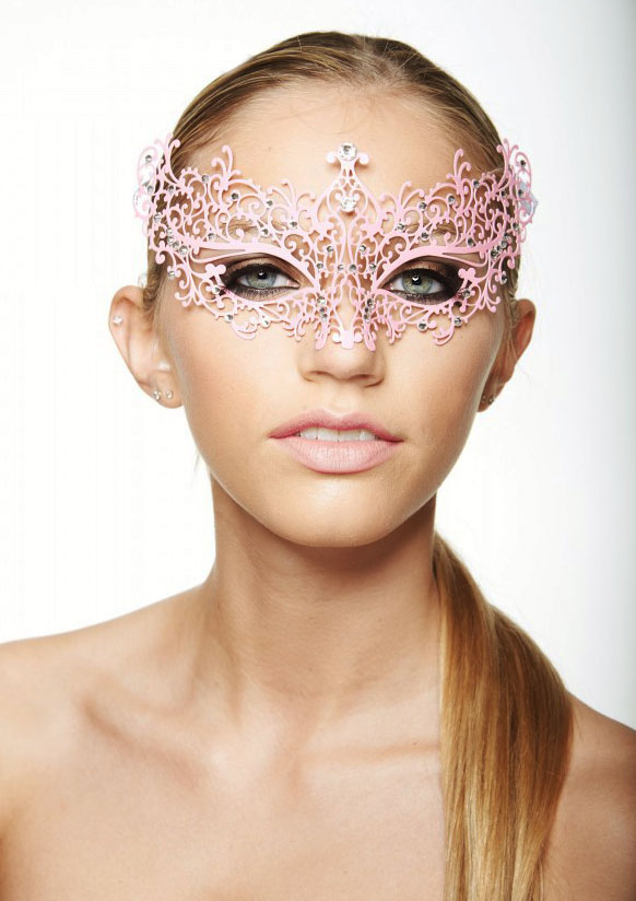 Chiara Colorful Masquerade Mask with Crystals