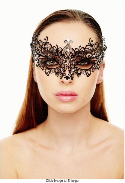 Chiara Masquerade Mask with Crystals