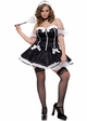 Chic French Maid Costumes with Lacey Arm Bands inset 1