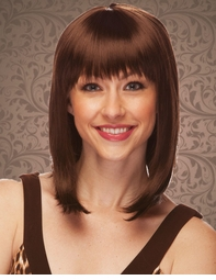 Chocolate Brown Tapered Bob Wig Doll