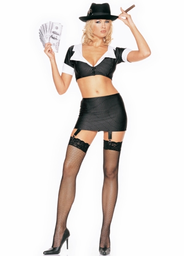 Chicago Gangster Bad Girl Costume