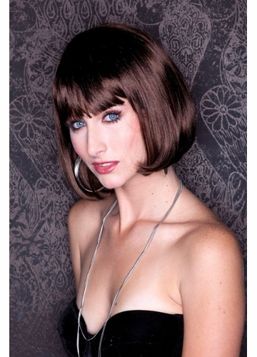 Chocolate Brown Bob Cindy Wig with Bangs