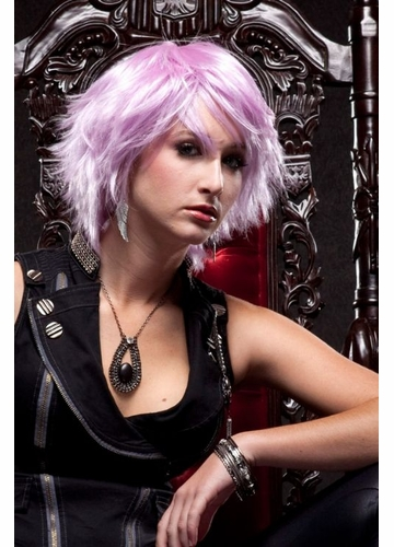 Choppy Lilac Purple Wig