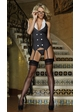 Classy Tux Lingerie Costume with Garter Top, Thong and Glasses inset 2