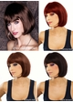Cognac Auburn Bob Wig with Bangs inset 1