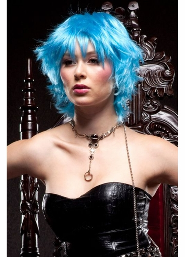 Cool Blue Choppy Wig