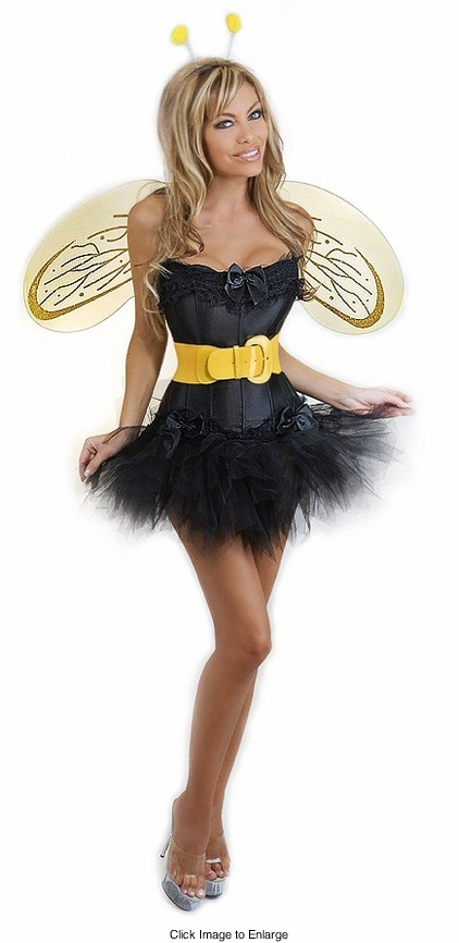 Corset Bee Costume with Pettiskirt, Belt and Wings