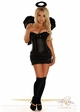 Corset Dark Angel Costume with Skirt, Halo and Feather Wings inset 1