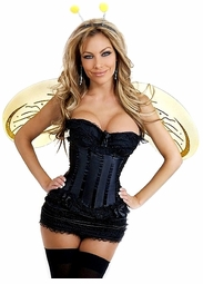Corset Honey Bee Costume with Skirt, Antennae and Wings